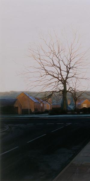 George Shaw, Ash Wednesday: 7.00am, 2004–5, Humbrol enamel on board, Private Collection, courtesy of the artist and the Anthony Wilkinson Gallery, London, © George Shaw 2018