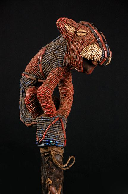 Babanki beaded headdress, Cameroon