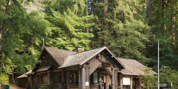Headquarters Administration Building, Big Basin Redwoods State Park, California.