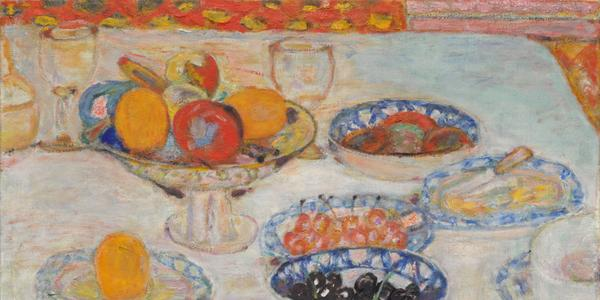 Pierre Bonnard, Fruit and Fruit Dishes (c.  1930).  Courtesy of the Cleveland Museum of Art.