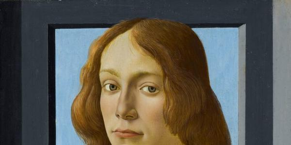 """Botticelli's """"Portrait of a Young Man Holding a Roundel"""" (circa 1480)."""