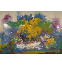 Frederick J.  Brown, In the Beginning, 1971, oil on canvas, 92 3/4 x 136 1/2 inches.  BROW-00065