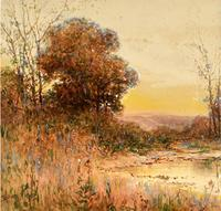 Charles Bullet Ohio River Valley watercolor.