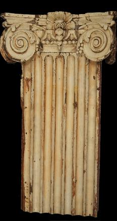 Bruton Parish Church Pilaster Section and Capital (c.  1752) Pine Possibly carved in England.  AF-21.1.2
