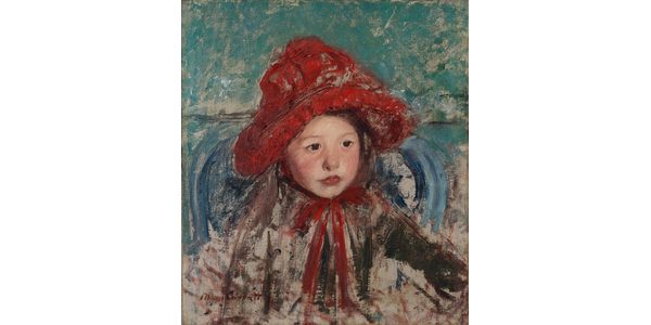 Mary Cassatt, American, 1844-1926, Little Girl in a Large Red Hat, ca.  1881.  Oil on canvas, 43.8 x 38.7 cm.  Princeton University Art Museum.  Museum purchase, Fowler McCormick, Class of 1921, Fund.
