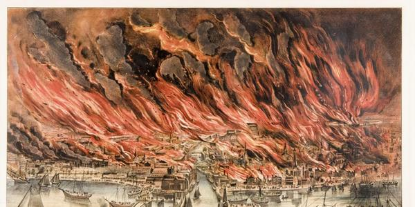 The Great Fire at Chicago, Octr.  8th.  1871., 1871.  Joslyn Art Museum, Gift of Conagra Brands