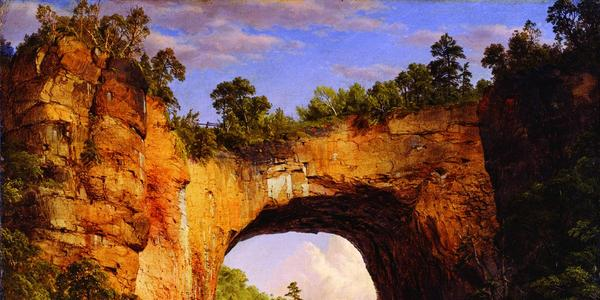 Frederic Edwin Church, The Natural Bridge, Virginia, 1852, oil on canvas, The Fralin Museum of Art at the University of Virginia, Gift of Thomas Fortune Ryan