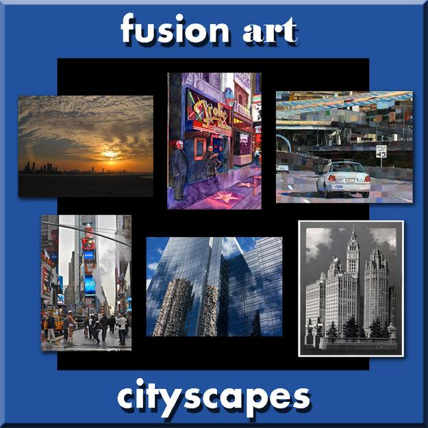 """Cityscapes"" International Juried Art Exhibition Opens August 1, 2016 www.fusionartps.com"