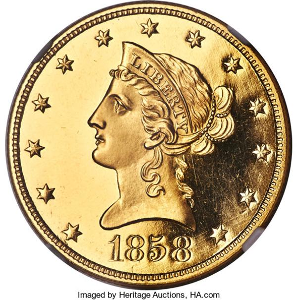 This historic 1858 Proof Liberty Eagle Gold coin brought $480,000.