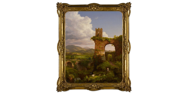 The Newark Museum of Art is sending Thomas Cole's The Arch of Nero (1846) to auction at Sotheby's, estimated at $500,000-$700,000.