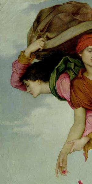 detail, Night and Sleep by Evelyn De Morgan.  Photograph: National Portrait Gallery