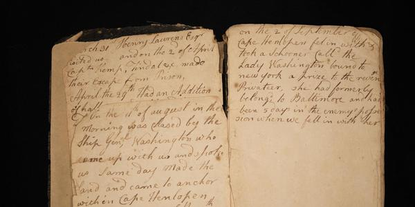 John Claypoole's Revolutionary War-era diary was found in a shoebox in a California garage and then donated to the Museum of the American Revolution.  Credit: David Edge