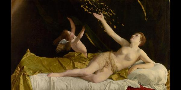 """From Richard Feigen the Getty Museum in Los Angeles purchased Orazio Gentileschi's painting """"Danaë and the Shower of Gold"""" (ca.  1623) for $30.5 million, at Sotheby's, in 2016."""