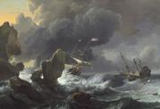 Ludolf Backhuysen, Ships in Distress off a Rocky Coast, 1667, oil on canvas, National Gallery of Art, Washington, Ailsa Mellon Bruce Fund