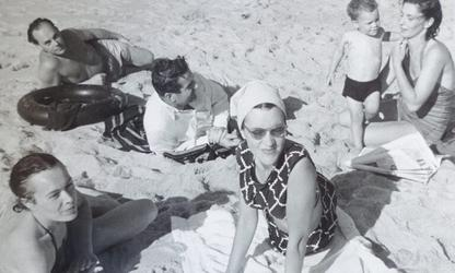 Juliet Kepes, Gyorgy Kepes, Connie Breuer and friends in Wellfleet, circa early 1960s.  Image courtesy of Julie Kepes Stone.