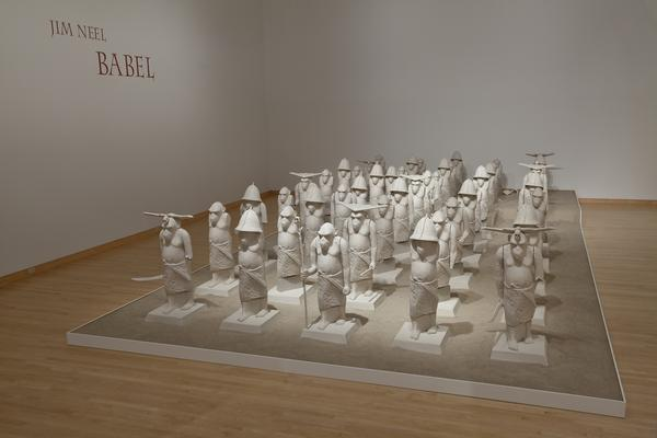 Installation view of Babel at the John Michael Kohler Arts Center, 2010.  Artist Jim Neel created the work during his first Arts/Industry residency in the Kohler Co.  Pottery.  Photo courtesy of the John Michael Kohler Arts Center.