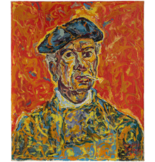Beauford Delaney (1901–1979), Self-Portrait, 1962, oil on canvas, 25 1/2 x 21 1/4 inches / 64.8 x 54 cm, signed