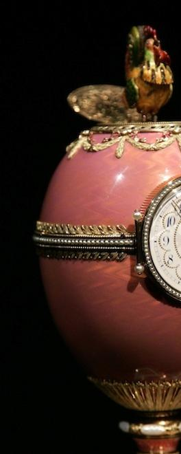 The Rothschild Faberge clock egg presented by Russian President Putin to the Hermitage Museum.
