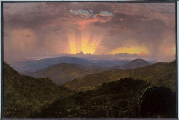 Frederic Edwin Church, The After Glow, by November 1867, oil on canvas, 31 ¼ x 48 ¾ in., OL.1981.48, Olana State Historic Site, New York State Office of Parks Recreation and Historic Preservation.