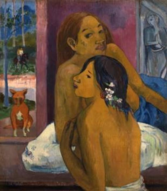 Deux Femmes by Paul Gauguin, 1902, oil on canvas, 74 x 64.5 cm