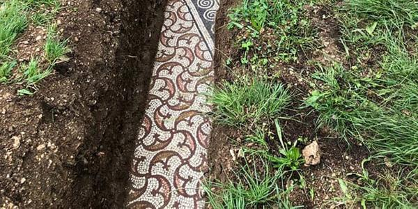 Ancient Roman mosaic floor discovered in Negrar, Italy.