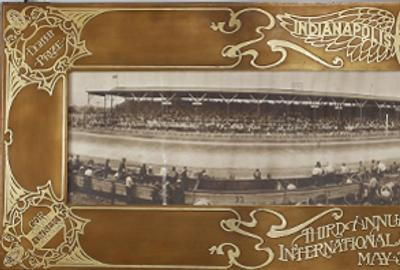 Indianapolis 500 presentation frame by Heintz Art Metal Smiths, 1913