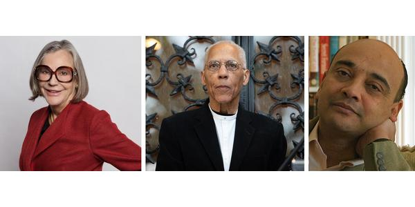 Left to right: Alice Walton, Martin Puryear, Kwame Anthony Appiah.  Photo of Mr.  Puryear by Francesca Bottazzin