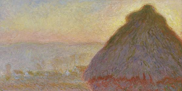 "Claude Monet, ""Grainstack (Sunset),"" 1891.  Oil on canvas.  Juliana Cheney Edwards."