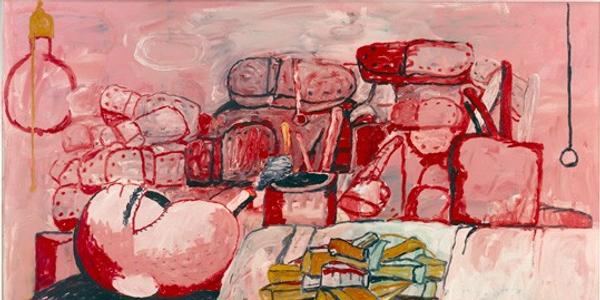 Philip Guston, Painting, Smoking, Eating, 1973, oil on canvas, overall: 196.85 x 262.89 cm (77 1/2 x 103 1/2 in.) Stedelijk Museum, Amsterdam © The Estate of Philip Guston