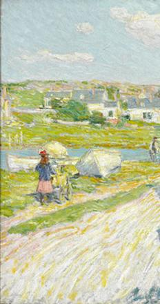 Late Afternoon Gloucester by Childe Hassam, circa 1896