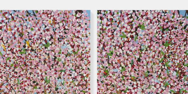 Renewal Blossom, 2018.  © Damien Hirst and Science Ltd.  All rights reserved, DACS 2021.  Picture © Prudence Cuming Associates.