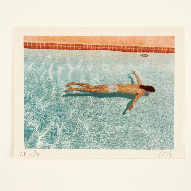 The top lot of the auction was a David Hockney photo portfolio from 1976, collection of Ileana Sonnabend, that earned $75,000.