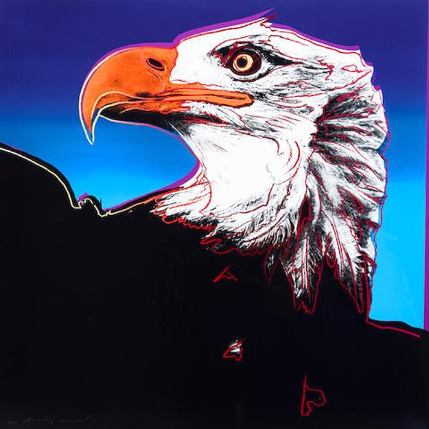 Andy Warhol (1928-1987), Bald Eagle, from Endangered Species, 1983, screen print in colors (estimate $ 50,000 - 70,000)
