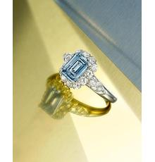 A rare and impressive fancy intense blue diamond ring Van Cleef & Arpels Estimate: $800,000-1,200,000