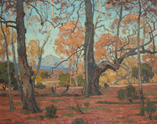 William Wendt (1865-1946), Patriarchs of the Grove, oil on canvas Painted in 1920 (estimate: $250,000-350,000)