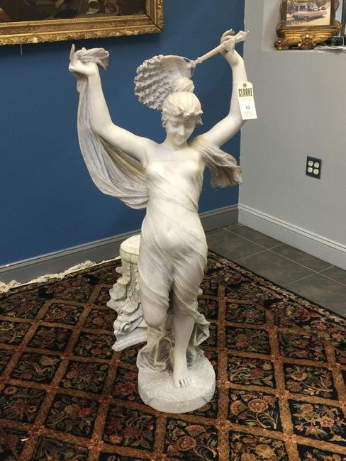 "The top lot of the sale was Cesare Lapini's marble sculpture, ""Odalisca,"" that attained $62,500."