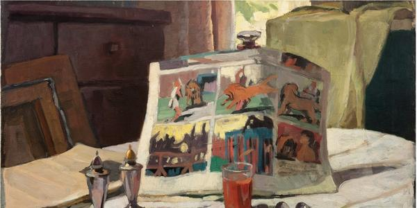 """George Brandriff's """"Sunday Breakfast,"""" 1935, from the Buck Collection."""