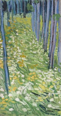 Image credit: Vincent van Gogh (1853–1890), Undergrowth with Two Figures, June 1890, oil on canvas, 19 ½ x 39 ¼ in.  (49.5 x 99.7 cm), Cincinnati Art Museum; Bequest of Mary E.  Johnston, 1967.1430