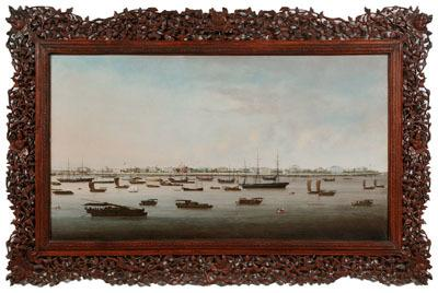 Chinese export painting in Brunk Auctions Jan.  8-9, 2011, sale.