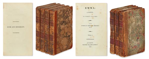 Jane Austen's Sense and Sensibility, 1811, earned $81,250.  Emma, 1816, sold for $27,500.