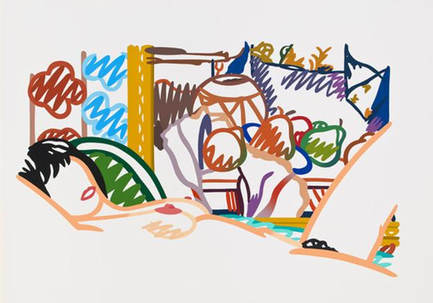 Tom Wesselmann, Monica Nude with Cezanne, 1994
