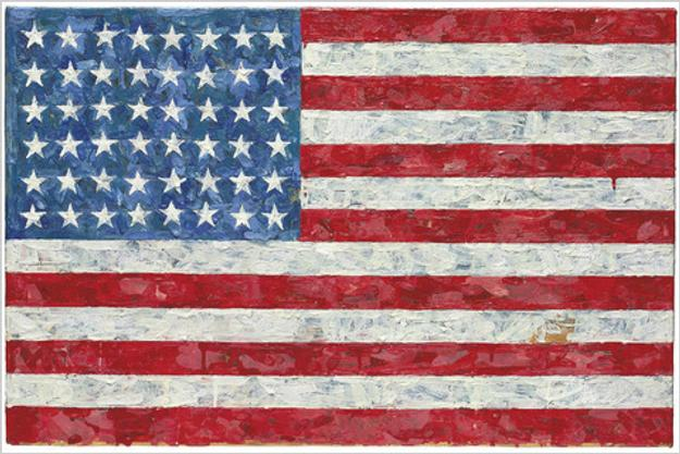 "Jasper Johns' ""Flag"" was purchased by art dealer Richard Rossello for $28.6 million at Christie's in May."