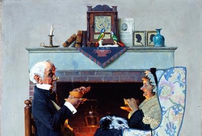 Norman Rockwell (American, 1894-1978),Tea Time, 1927.  Oil on canvas.  Bequest of Gertrude Perlberg, 2001.23