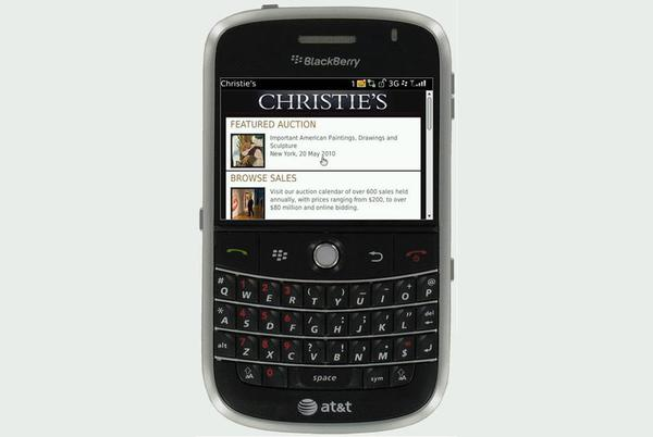 Christie's Mobile Web is free to users of web-enabled cell phones and personal digital assistants (PDAs).