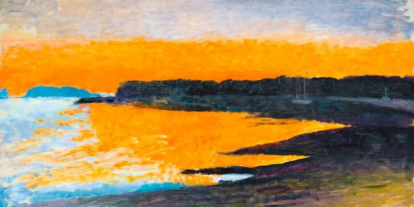 Wolf Kahn,Down East Sunset I,sold for $206,250.