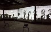 William Kentridge, More Sweetly Play the Dance, 2015 Installation view at LUMA Arles, Parc des Ateliers, France.  © William Kentridge.  Courtesy of the artist and LUMA Foundation.