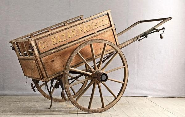 La Place Antiques French flower maket cart