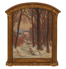LOT 1: Carl Krafft, Through the Woods.  Estimate $1,000-2,000.  Sold for $6,500
