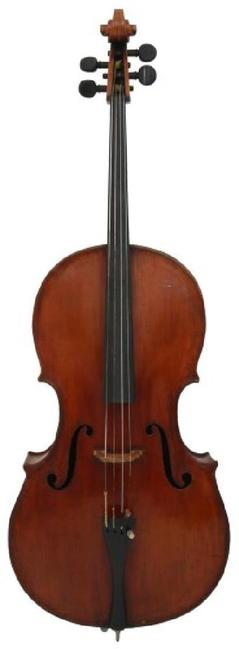 "A handcrafted cello by Leandro Bisiach (Italian, 1864-1946), in the ""Grand Pattern Amati"" style, circa 1890, is one of two Italian cellos in this sale."