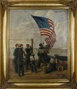 Artist Unknown (American, 19th Century) Our Flag is There,